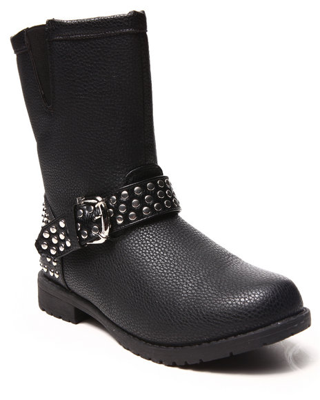 Fashion Lab - Women Black Aria Studded Boot - $23.99
