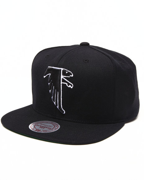Mitchell & Ness Men Atlanta Falcon Nfl Throwbacks Wool Solid Snapback Black - $28.00
