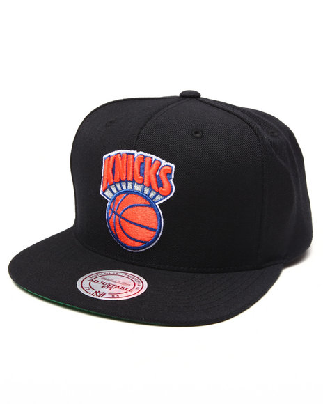 Mitchell & Ness Men New York Knicks Nba Hwc / Current Wool Solid Black