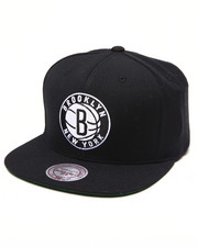 Mitchell & Ness - Brooklyn Nets NBA HWC / Current Wool Solid Snapback Hat