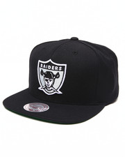 Mitchell & Ness - Oakland Raiders NFL Throwbacks Wool Solid Snapback Hat