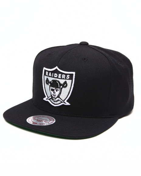 Mitchell & Ness Men Oakland Raiders Nfl Throwbacks Wool Solid Snapback Black - $28.00