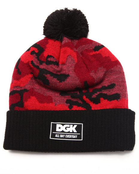 Dgk Men Stealth Pom Beanie Red