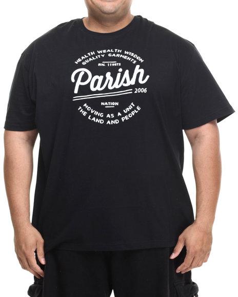 Parish - Men Black Logo Graphic T-Shirt (B&T) - $38.00