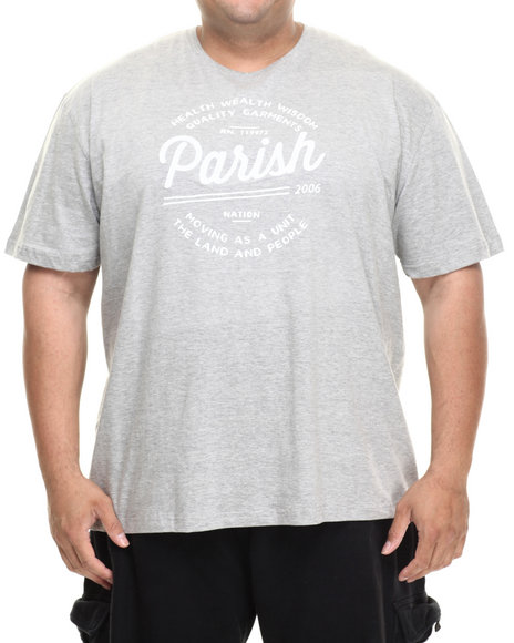 Parish - Men Grey Logo Graphic T-Shirt (B&T)
