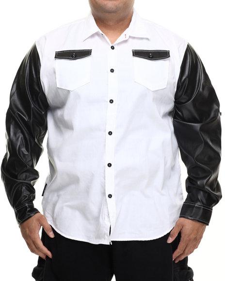 Enyce - Men White Harlem L/S Button-Down (B&T)