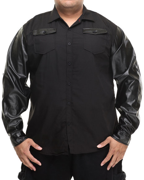 Enyce - Men Black Harlem L/S Button-Down (B&T) - $44.00