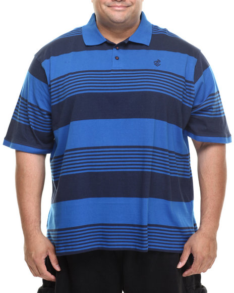 Rocawear - Men Blue Marcy Strip S/S Polo (B&T)