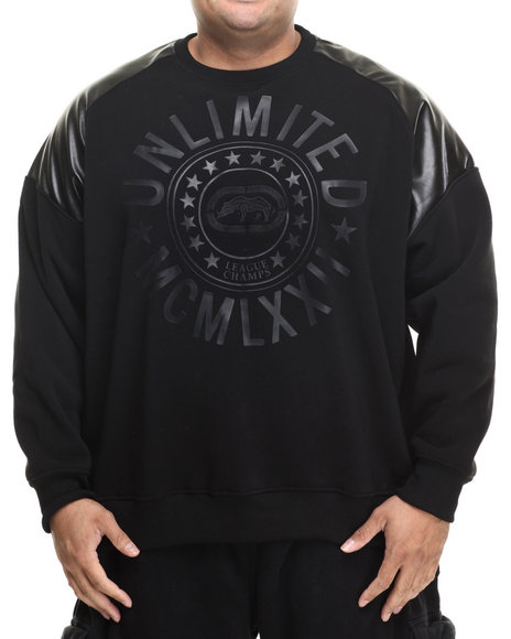 Marc Ecko Collection - Men Black Shoulder Guard Sweatshirt (B&T)