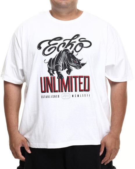 Ecko - Men White Script Ecko T-Shirt (B&T)