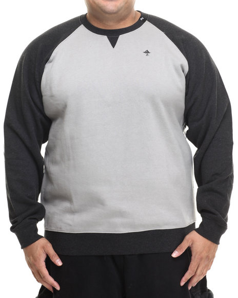 Lrg - Men Black,Grey Pure Scumbaggery Crewneck Sweatshirt (B&T)