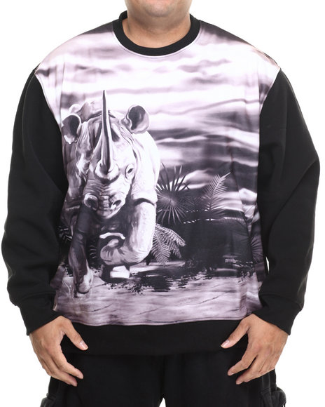 Ecko - Men Black Charging Rhino Sweatshirt (B&T)