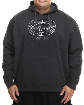 Ecko - Faux Leather Weld Rhino Pullover Hoodie (B&T)