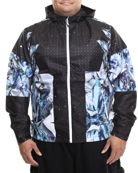 LRG - Men Black Dark Crystal Mesh - Lined Jacket (B & T)