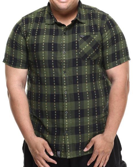 Lrg - Men Olive Recon 47 S/S Button-Down (B&T)