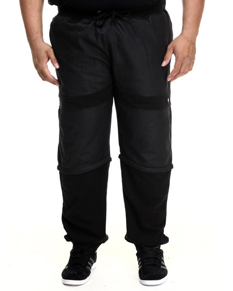 Lrg - Men Black Resolutionary Scumbag Convertible Sweatpants (B&T)