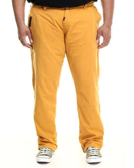 Lrg - Men Gold L-47 True-Tapered Stitchless Pants (B&T)