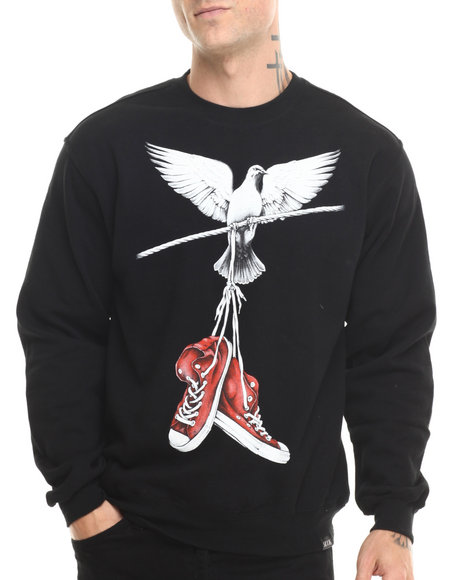Rook - Men Black On A Wire Crew Sweatshirt