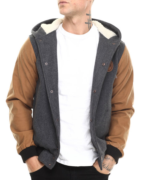 Rook - Men Grey Ajax Varsity Jacket
