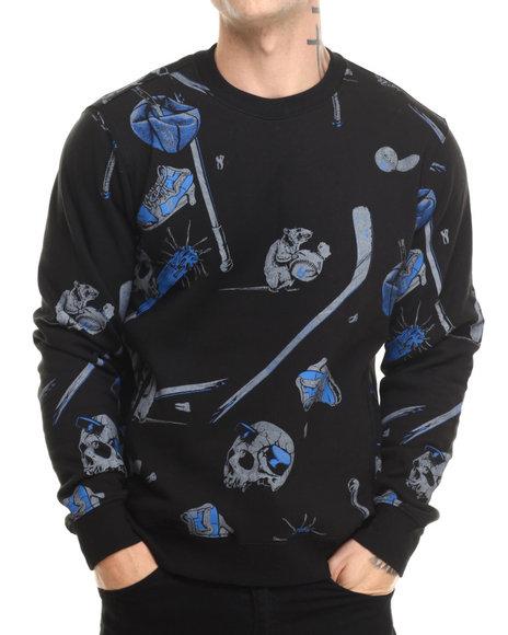 Rook - Men Black Sticks And Stones Crew Sweatshirt