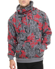 Men - Artillery Camo Printed Fleece Hoodie