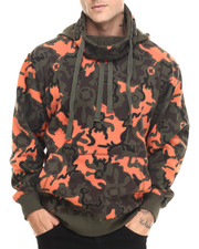 Basic Essentials - Artillery Camo Printed Fleece Hoodie