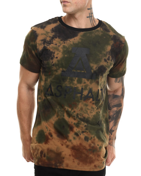 Asphalt Yacht Club - Men Camo Sky High Tie Dye Disruptive Tee