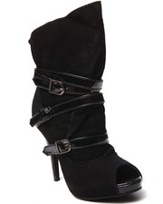 Women - Strappy Buckle Bootie