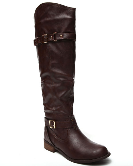 Fashion Lab - Women Brown Tonkis Riding Boot