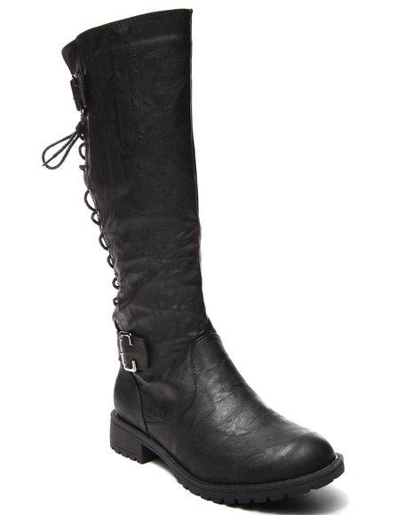 Fashion Lab - Women Black Erika Riding Boot