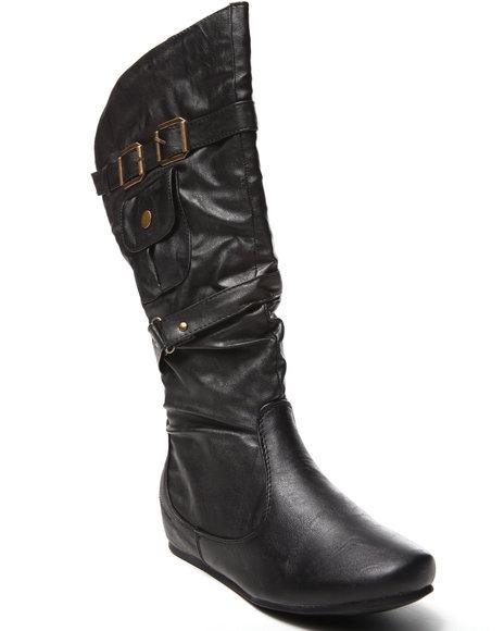 Fashion Lab - Women Black Melissa Riding Boot