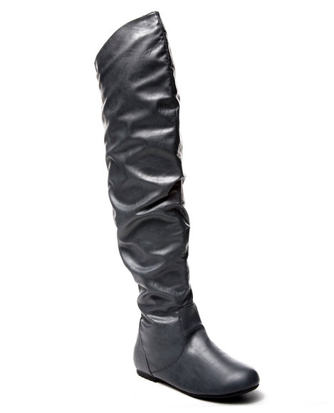 Fashion Lab - Women Grey Riley Slouch Riding Boot