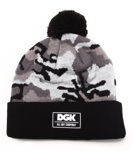 Dgk Men Stealth Pom Beanie Grey