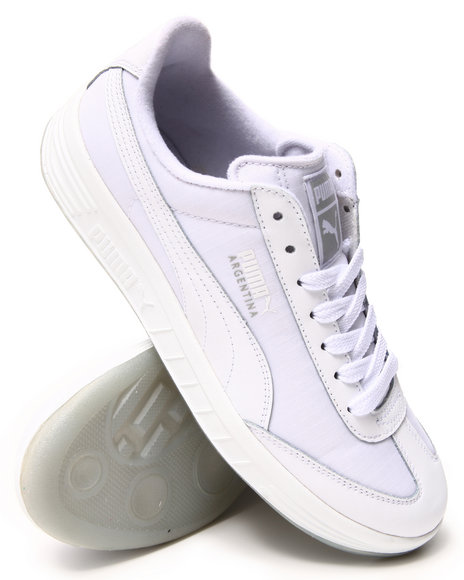 Puma - Men White Argentina Ice Bottom Sneakers