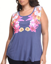 Baby Phat - Floral Placement Print Tee (Plus)