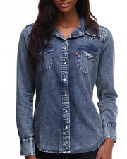 Levi's - Distressed Wash Western Buttondown Shirt