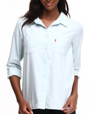 Women - Relaxed Boyfriend 2 Pocket Button Down Shirt