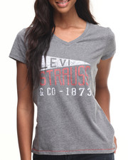 Levi's - Collegiate Flag Easy V-neck Tee