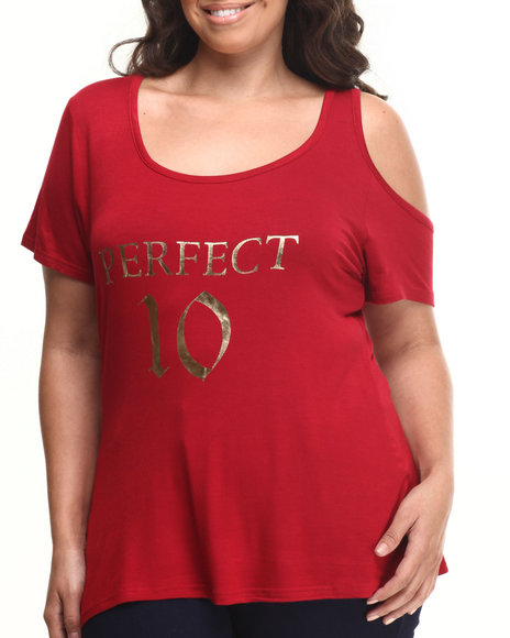 Baby Phat - Women Red Perfect 10 Tee (Plus)