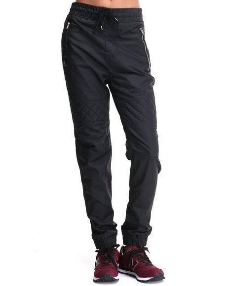 Fashion Lab - Waxed Long - Pant Joggers