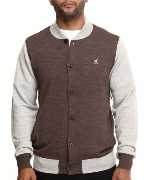 Lrg - Men Brown Abu Research Sweater