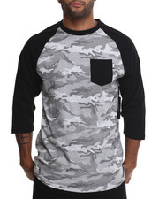 The Skate Shop - Stealth Pocket 3/4 Sleeve Raglan Tee