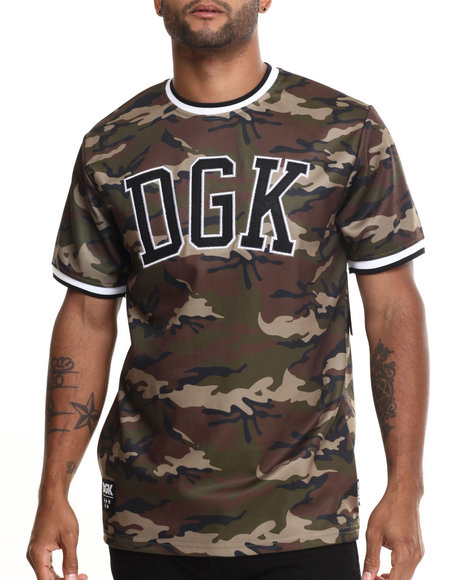 Dgk - Men Camo Worldwide Baseball Jersey