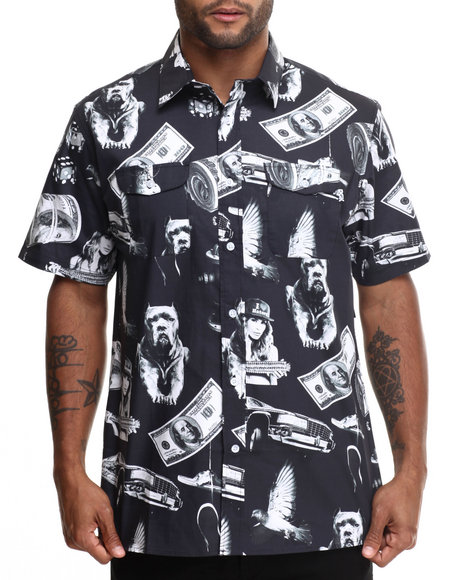 Dgk - Men Black Vices S/S Button-Down