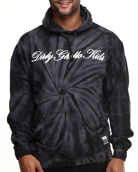 Dgk - Men Black Script Pullover Fleece Hoodie