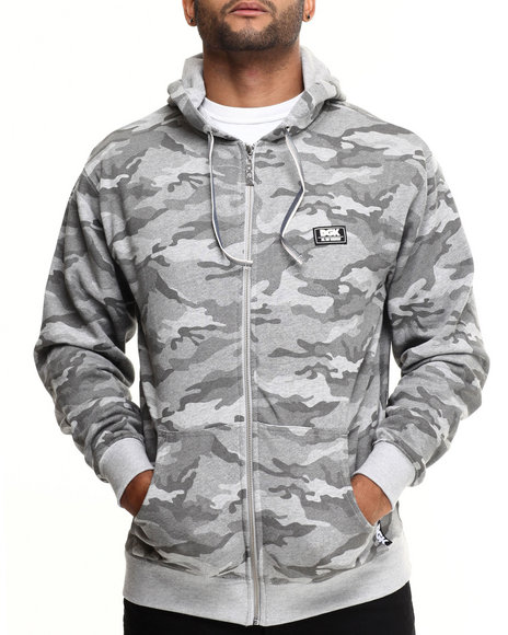 Dgk - Men Grey Stealth Zip Fleece Hoodie