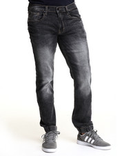 Jeans & Pants - Fairfax Ice wash Jogger denim jeans (elastic band detail)