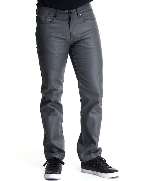 Akademiks - Men Grey Robertson Heavy Coated Premium Denim Jeans