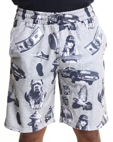 Dgk - Men Grey Vices Fleece Shorts