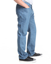 Straight - Over-Dyed Slim/Straight fit denim pants